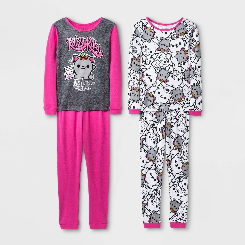 Image of Girls' Smooshy Mushy 4pc Pajama Set - Pink 10, Girl's