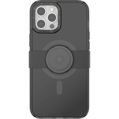 Popsockets PopCase x PopGrip Slide for Apple iPhone 12 Pro Max with MagSafe - Black