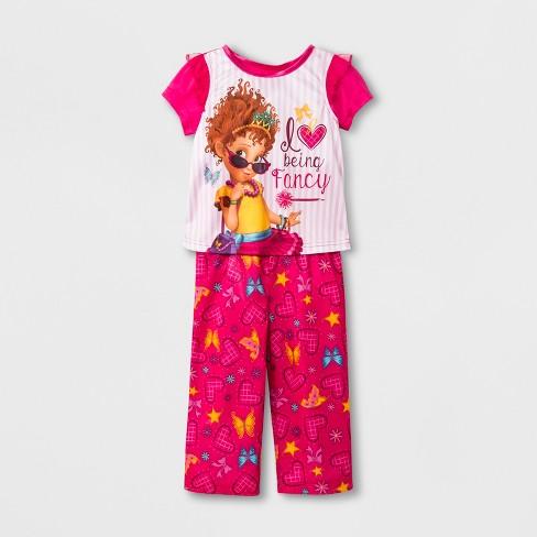 ff7bfd11a1b6 Toddler Girls  Fancy Nancy 2pc Pajama Set - Dark Pink   Target