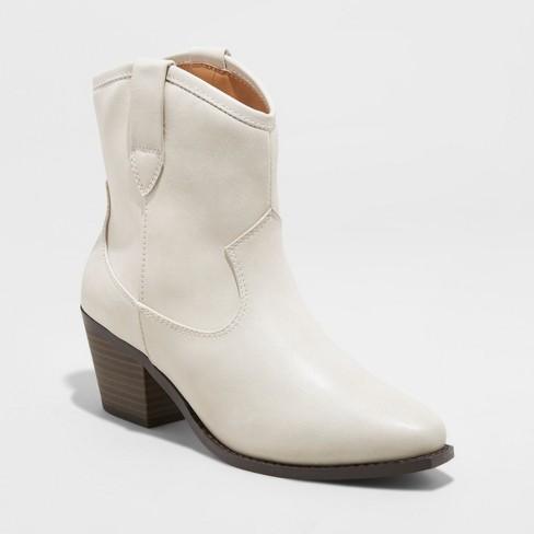 c24b44f13b Women s Vanessa Faux Leather Short Pull On Western Boots - Universal  Thread™   Target