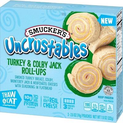 Smucker's Uncrustables Frozen Turkey & Colby Jack Roll-Ups - 7.8oz/3ct
