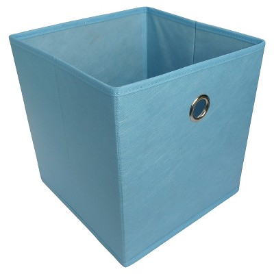 11  Fabric Cube Storage Bin Light Blue - Room Essentials™