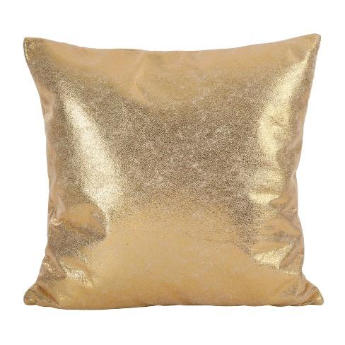 20 X20 Shimmering Metallic Design Down Filled Throw Pillow Saro Lifestyle Target