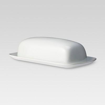 Butter Dish Porcelain White - Threshold™