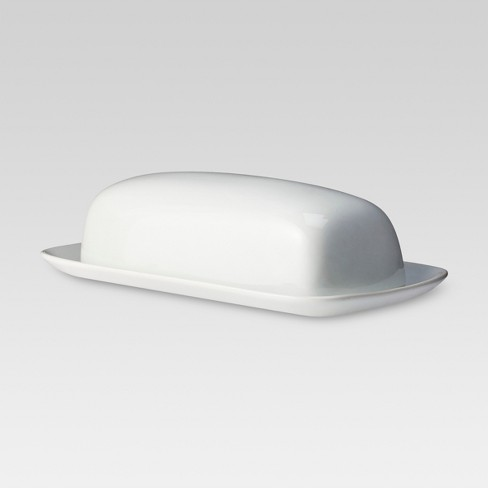 Butter Dish Porcelain White - Threshold™ - image 1 of 3