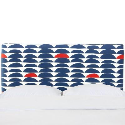 Upholstered Headboard in Halfmoon Navy/Red - Cloth & Company