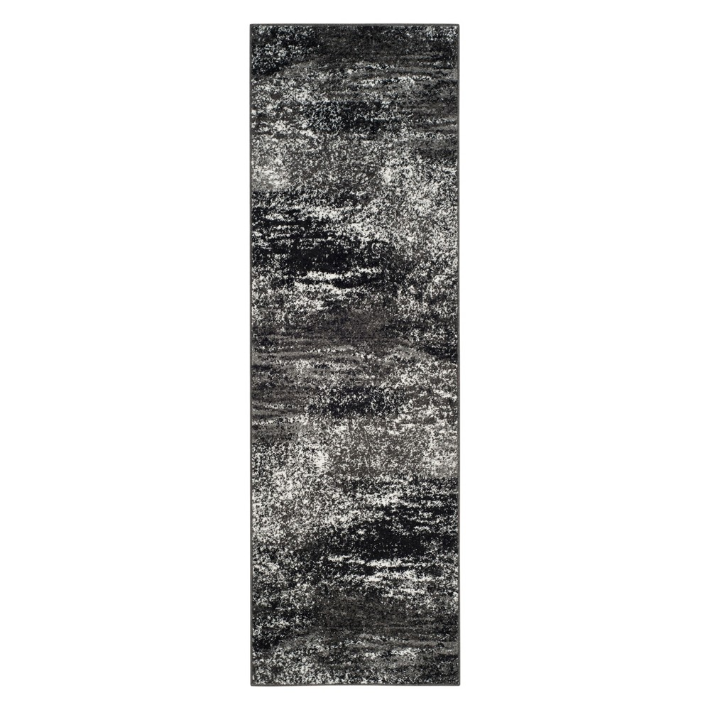 2'6X16' Spacedye Design Runner Silver/Black - Safavieh