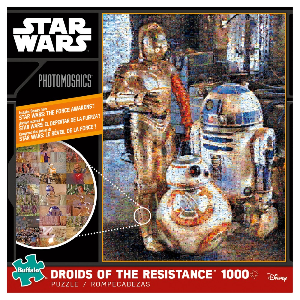 Star Wars BB-8 1000pc Photomosaic Puzzle - Droids of the Resistance