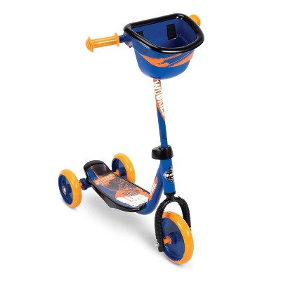 Huffy 78858 Star Wars Chewbacca Preschool Toddler Scooter with Storage Basket, Blue