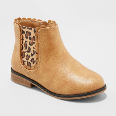 Toddler Girls' Ashley Chelsea Boots - Cat & Jack™ Brown 11