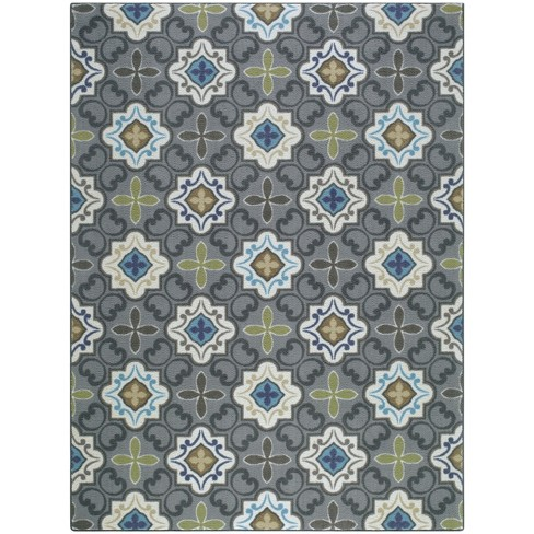 Multi Moroccan Tile Rug - Threshold™ - image 1 of 4