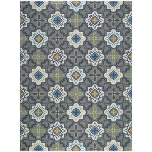Multi Moroccan Tile Rug - Threshold™ - image 1 of 3