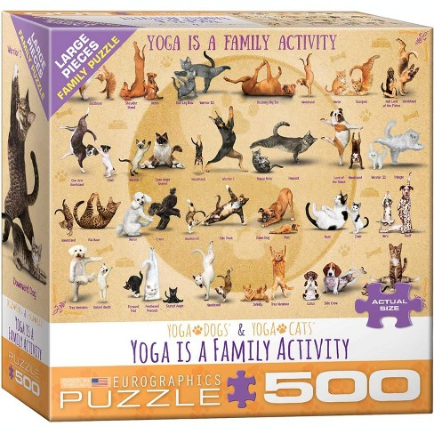 Eurographics Inc. Yoga is a Family Activity 500 Piece Jigsaw Puzzle - image 1 of 4