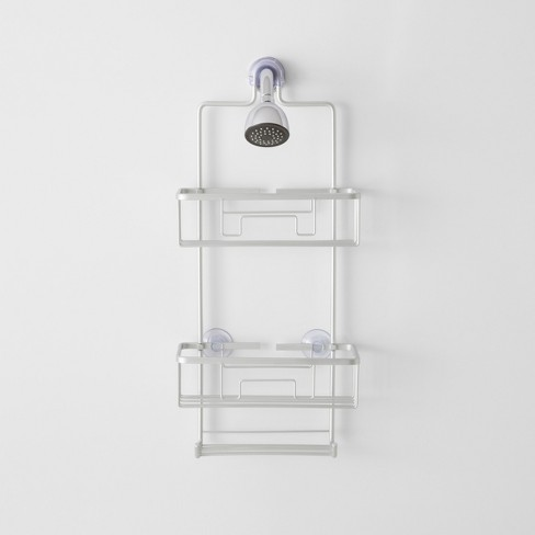Large Rustproof Shower Caddy With Lock Top Gray  - Made By Design™ - image 1 of 3