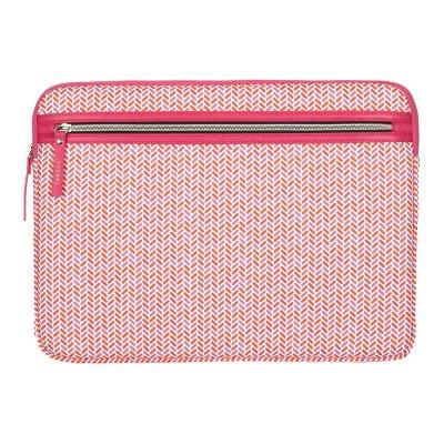 """Targus 13-14"""" Herringbone Laptop Sleeve - Coral Pink"""