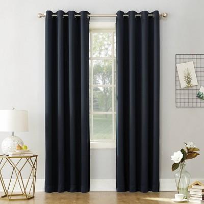 "84""x54"" Kenneth Energy Saving Blackout Grommet Top Curtain Panel Navy Blue - Sun Zero"
