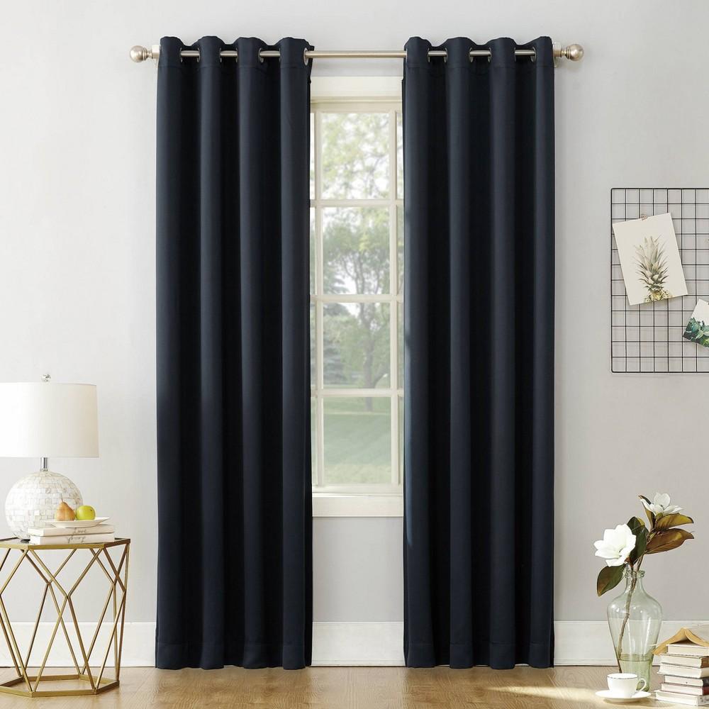 108 34 X54 34 Kenneth Energy Saving Blackout Grommet Top Curtain Panel Navy Blue Sun Zero