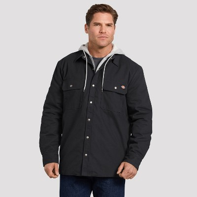Dickies Men's Relaxed Fit Icon Hooded Duck Quilted Shirt Jacket