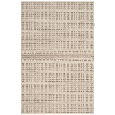 5'X8' Geometric Design Woven Area Rug Ivory/Light Gray - Safavieh
