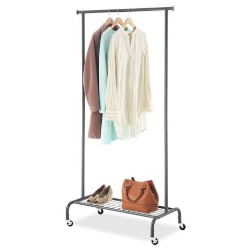 Whitmor Single Rod Garment Rack - Gunmetal - image 1 of 2