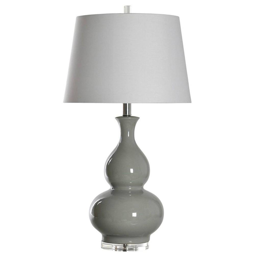 Ceramic Table Lamp Gray (Includes Light Bulb) - StyleCraft
