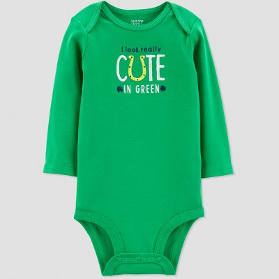 Baby St. Patricks Day Really Cute Rib Bodysuit - Just One You® made by carter's Green 9M