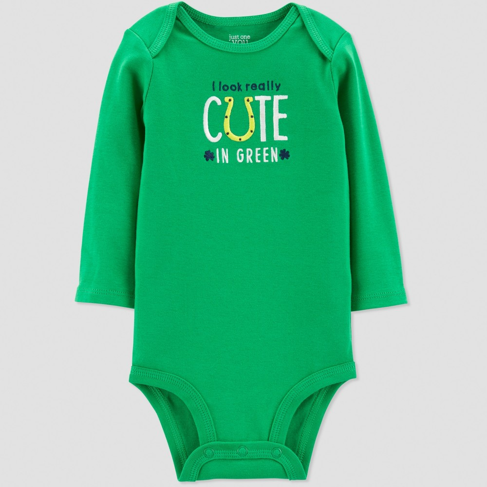 Baby St. Patricks Day Really Cute Rib Bodysuit - Just One You made by carter's Green 3M, Infant Unisex