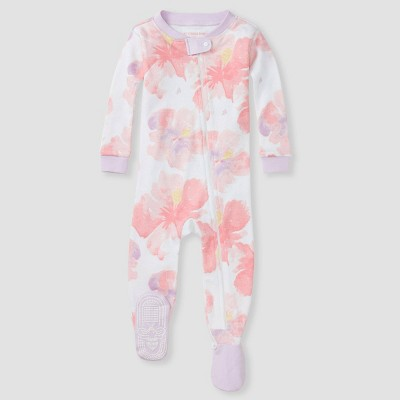 Burt's Bees Baby® Girls' Floral Footed Pajamas - Purple 12M
