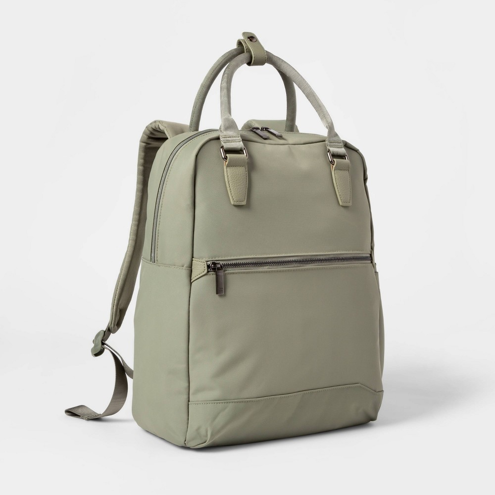 Image of Commuter Backpack Olive - Open Story , Green