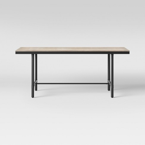 """72"""" Danvers Farmhouse Dining Table Rectangle Black Metal and Gray Wash - Threshold™ - image 1 of 5"""