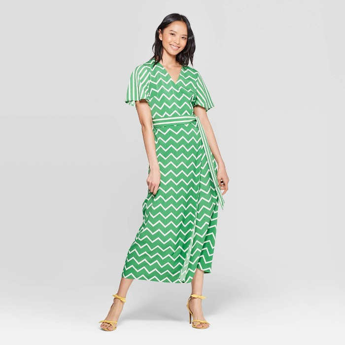 Women's Short Sleeve V-Neck Wrap Dress with Belt - Who What Wear™ - image 1 of 3