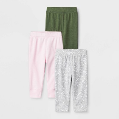 Baby Girls' 3pk Oh Honeybee Pants - Cloud Island™ Newborn
