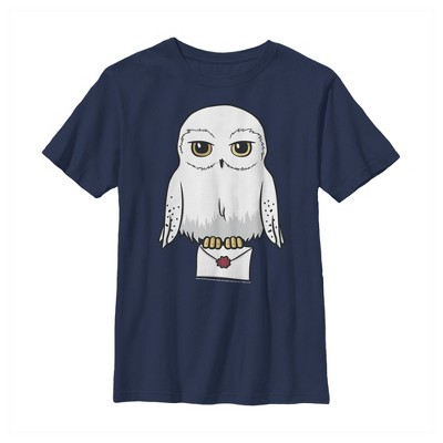 Boy's Harry Potter Cartoon Hedwig Letter T-Shirt