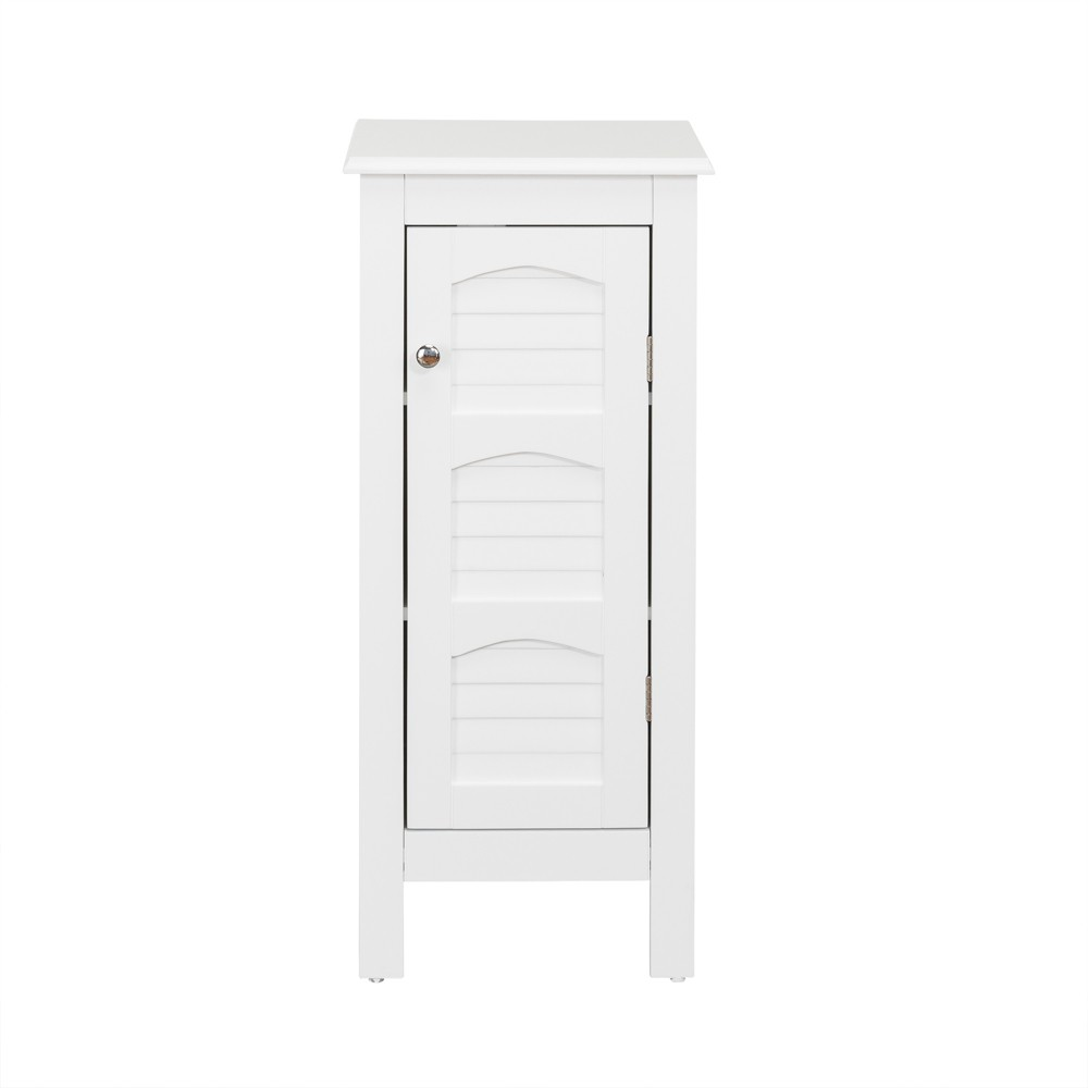Lombard with Shutter Style Door Bath Vanity Cabinet White - Elegant Home Fashions