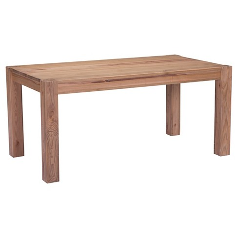 "Elm Wood 65"" Rectangular Farmhouse Dining Table - Natural - ZM Home - image 1 of 7"