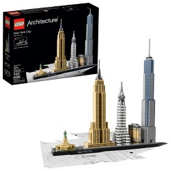 LEGO Architecture New York City 21028, Build It Yourself New York Skyline Model for Adults and Kids, Adult Unisex