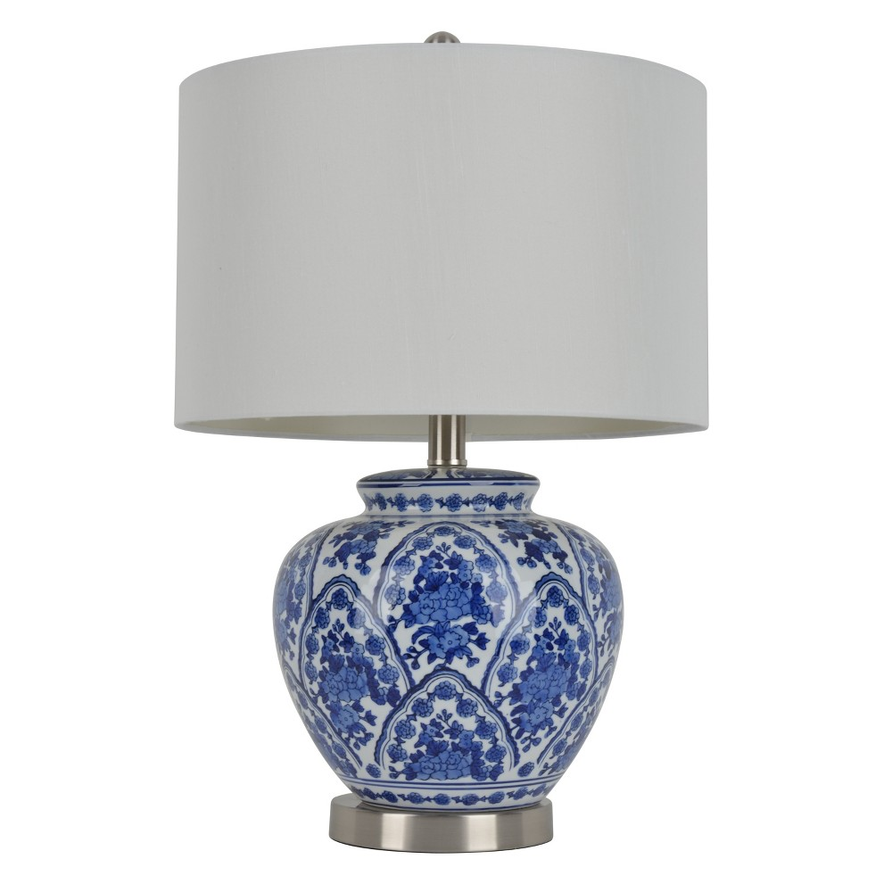 "Image of ""20"""" Ceramic Table Lamp Blue - Decor Therapy"""