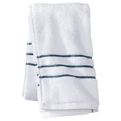 Hand Towel White/Aqua Stripe - Fieldcrest™