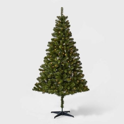 6ft Pre Lit Artificial Christmas Tree Alberta Spruce Clear Lights Wondershop Target