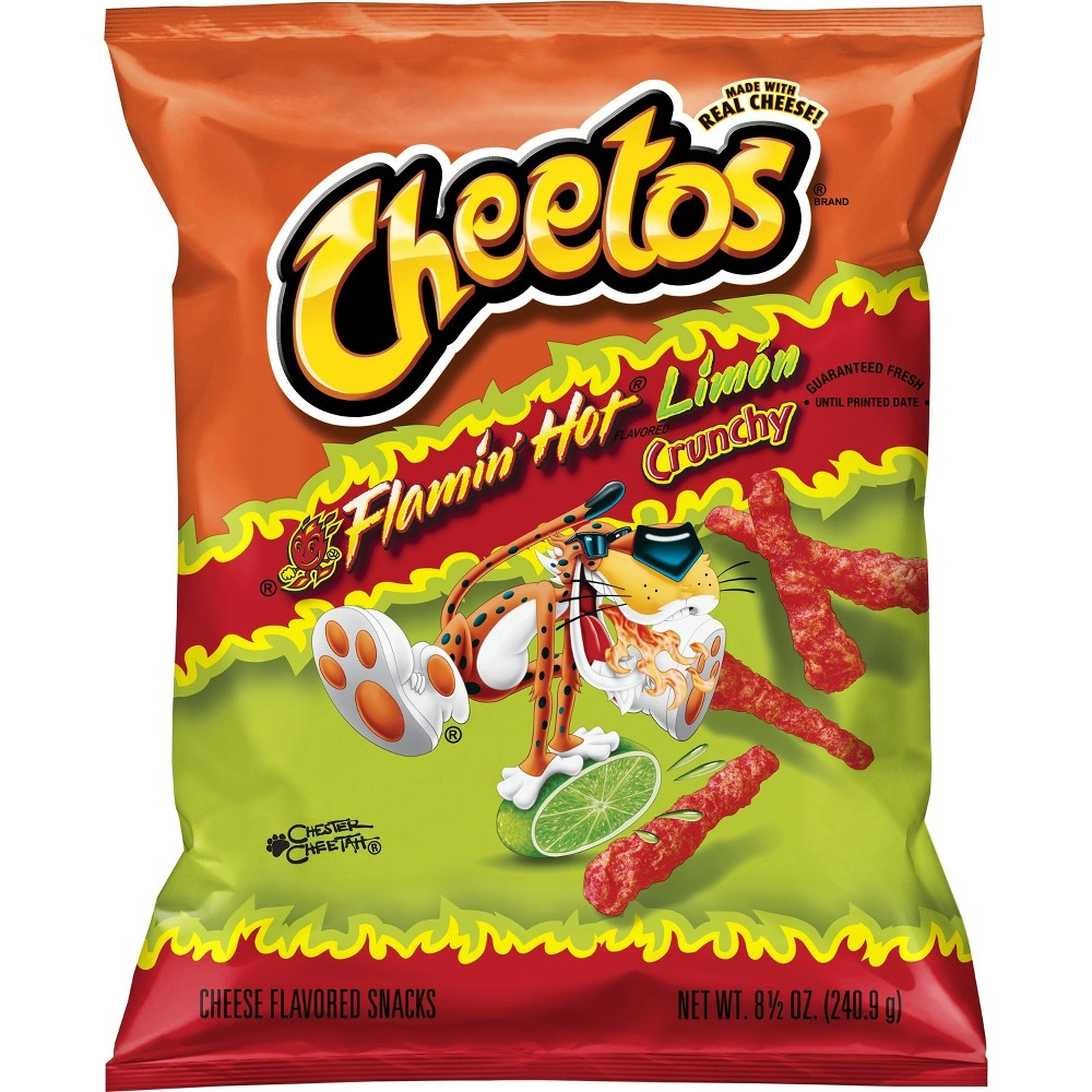 Cheetos Crunchy Flamin Hot Lim 243 N Cheese Flavored Snacks 8 5oz