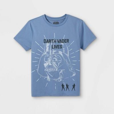 Boys' Star Wars Darth Vader Lives Short Sleeve Graphic T-Shirt - Blue - Disney Store