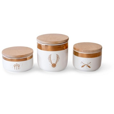 Robe Factory LLC Harry Potter Quidditch Ceramic Storage Jar Containers | Set of 3