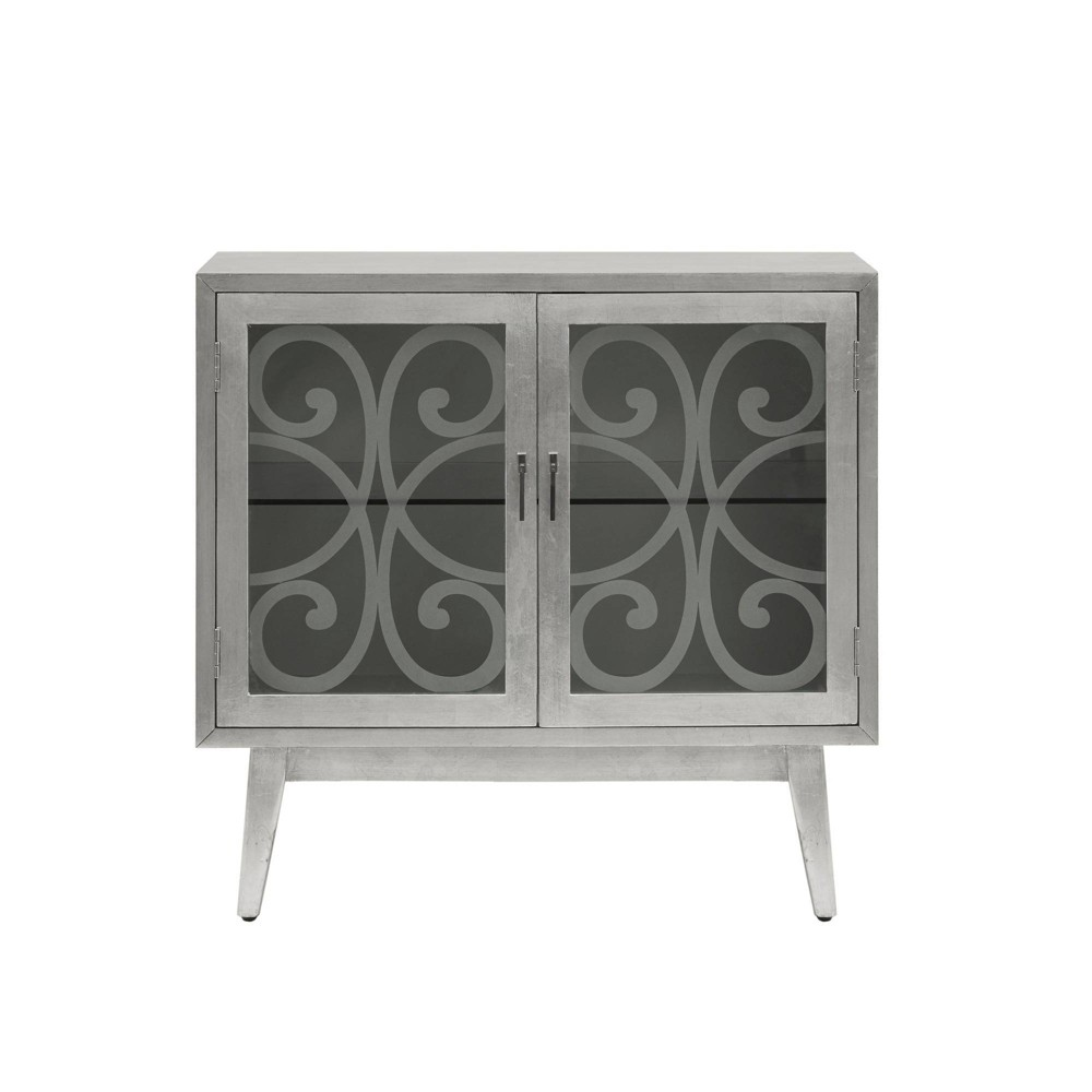 2 Door Anne Accent Cabinet Silver Gray was $469.99 now $328.99 (30.0% off)