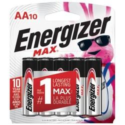 Energizer Max AA Alkaline Batteries 10ct