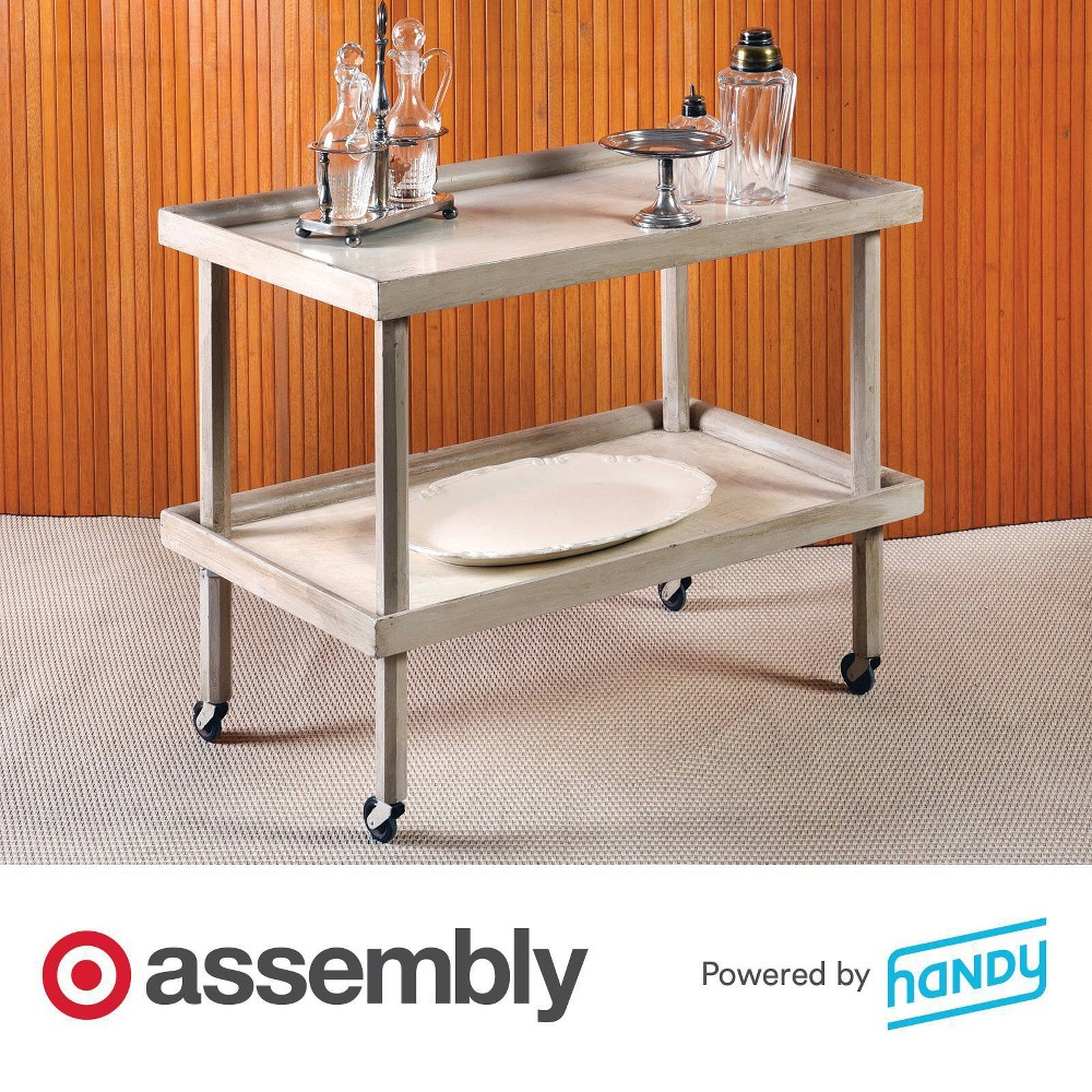 Bar Cart Assembly Powered By Handy
