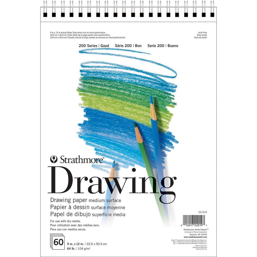 Image of Strathmore 9x12 Spiral Drawing Paper Pad - 60ct