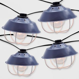 10ct Outdoor Cage String Lights Navy - Threshold™