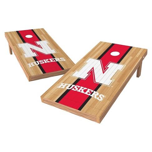 NCAA Wild Sports2' x 4' Heritage Design Authentic Cornhole Set Nebraska Cornhuskers - image 1 of 1