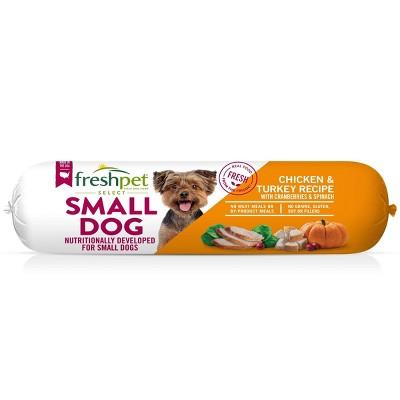 Freshpet Select Roll Small Wet Dog Chicken & Turkey Recipe Refrigerated Wet Dog Food - 1lb