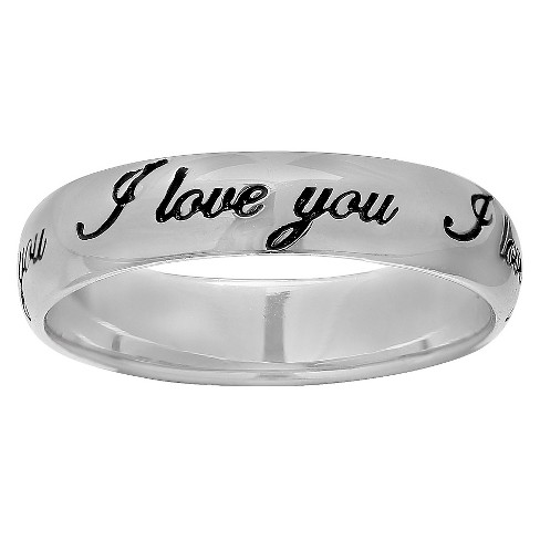 7d26791c2 Women's Sterling Silver Ring With I